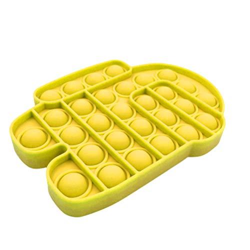 Ooscy Juguete de descompresión Push Bubble Sensory Toy de silicona para adultos y niños, autismo, necesidades especiales, alivio del estrés, juguete antiansiedad