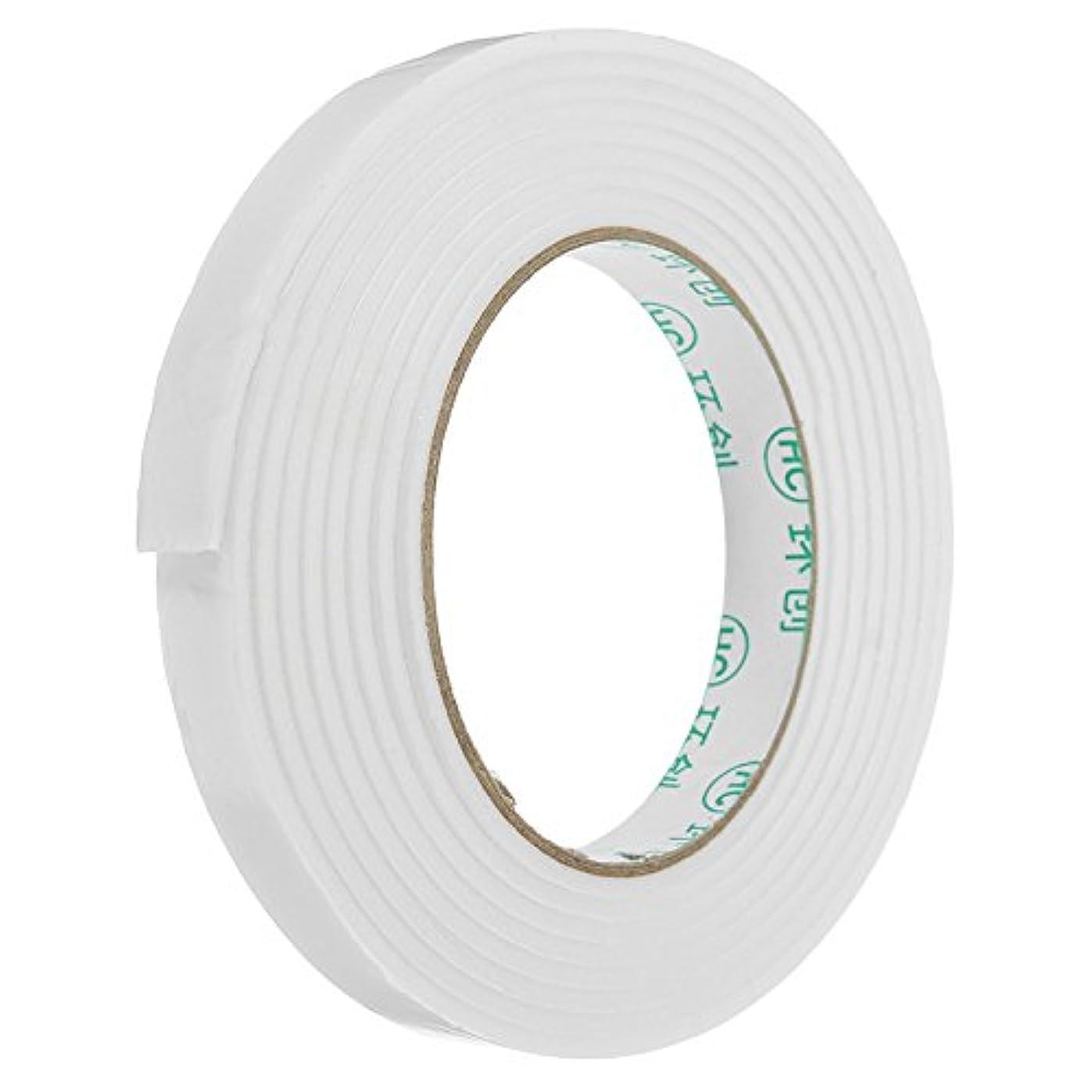 百年クロニクル陪審Queenwind 5Pcs 1.4 cmx3m ホワイト PE フォーム両面テープ強力な接着性スポンジマウントテープ