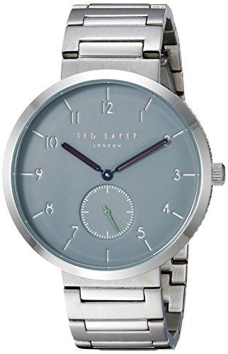 TED BAKER LONDON Herren analog Quarz Uhr mit Edelstahl Armband TE50011011