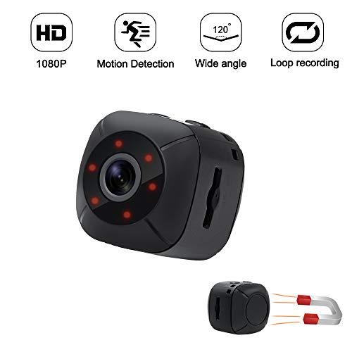 Mini Kamera Kleine Kamera TANGMI HD Bewegungskamera 1080P Tragbare Kamera Überwachungskamera mit...