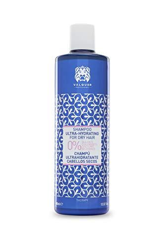 Válquer Premium Shampoo Ultra hydraterend droog haar zonder zout, sulfaat, zonder parabenen en zonder siliconen, 400 ml
