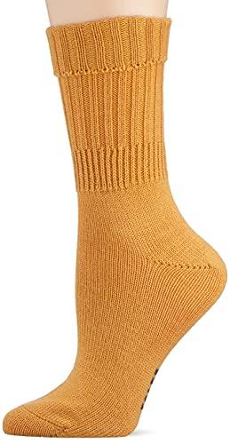 FALKE Damen Striggings Rib W SO Socken, Gelb (Marigold 1227), 35-38