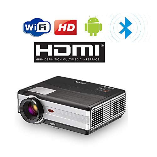 4000 Lumen Proyector WiFi Bluetooth Inalámbrico HD 1080P Soporte LED Home Cinema Proyectores de Cine al Aire Libre HDMI USB VGA AV Audio Airplay para iOS Android Smartphones Laptop TV DVD PS4 Wii U