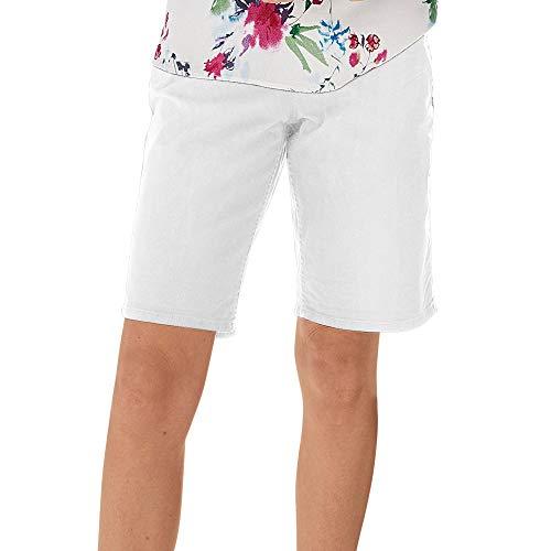 s.Oliver Damen Smart Bermuda: Twillhose white 38