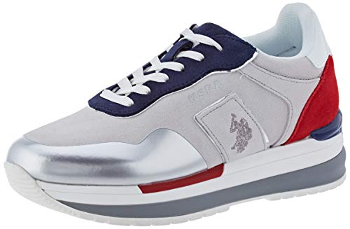 U.S. POLO ASSN. Amy Suede, Sneaker Donna, Multicolore (WHI/Blu 050), 36 EU
