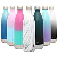 Simple Modern 34 Ounce Wave Water Bottle - Stainless Steel Liter Double Wall Vacuum Insulated Leakproof Pattern: Carrara Marble