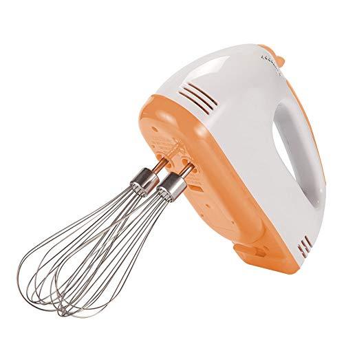 J Mezclador eléctrico de Mano, 100W Super Power, SELECCIÓN DE Velocidad Variable DE 7 Velocidad, Utilizado para Mezcla DE Mezcla, Crema, Porte, BOTÓN DE EJECO, Naranja