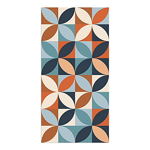 Alfombra Vinílica, Geometría Vistosa, 80 x 40 x 0.2 cm, Multicolor, ALV-110