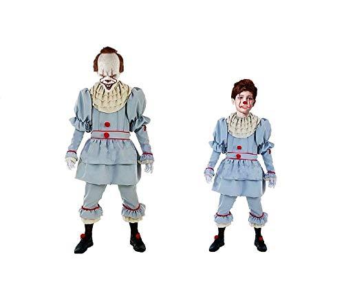 DM Disfraz de Payaso Diabólico - Asesino. Incluye: Camisa, Pantalón y Cuello. Talla Única de adulto. (Talla 10-12 Niño)