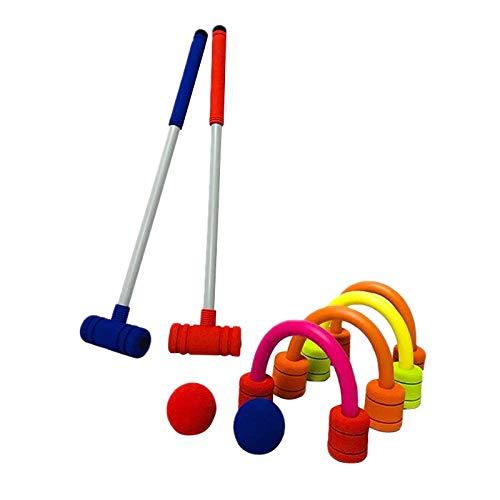 ACAMPTAR Krocket-Set Doppel-Krocket-Set Schaumspielzeug für Kinder im Innen- und Au?Enbereich Geeignet für Den Lawn Backyard Park