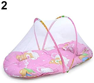 Mccng - Mosquito Net - Foldable Portable Infant Baby Travel Mosquito Net Crib Bed Tent With Pillow - Room Rainfly Porch Military Babies Attach Black Hammock Lace Tent Malaria Ring Prices Backpacker