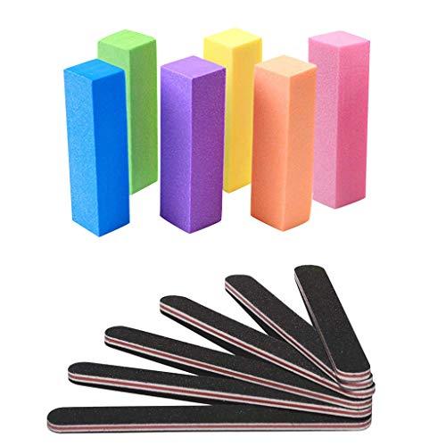 FiedFikt Nagelvijlen Professionele Manicure, Pedicure Kit, Nagelvijlen, Professionele Verzorgingsset, Nagelgereedschap voor Thuisgebruik, Set van 12