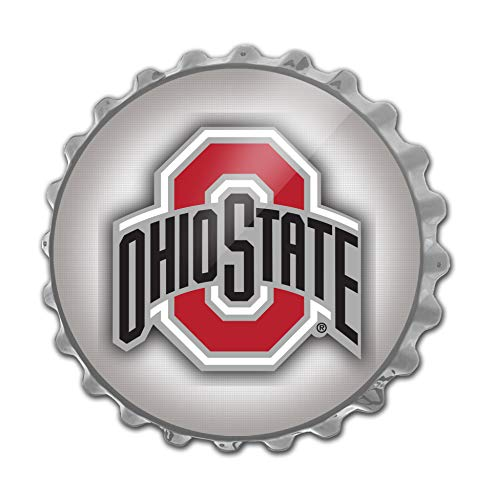 Ohio State University Large Bottle Cap Wall Sign featuring the Buckeyes Primary Logo