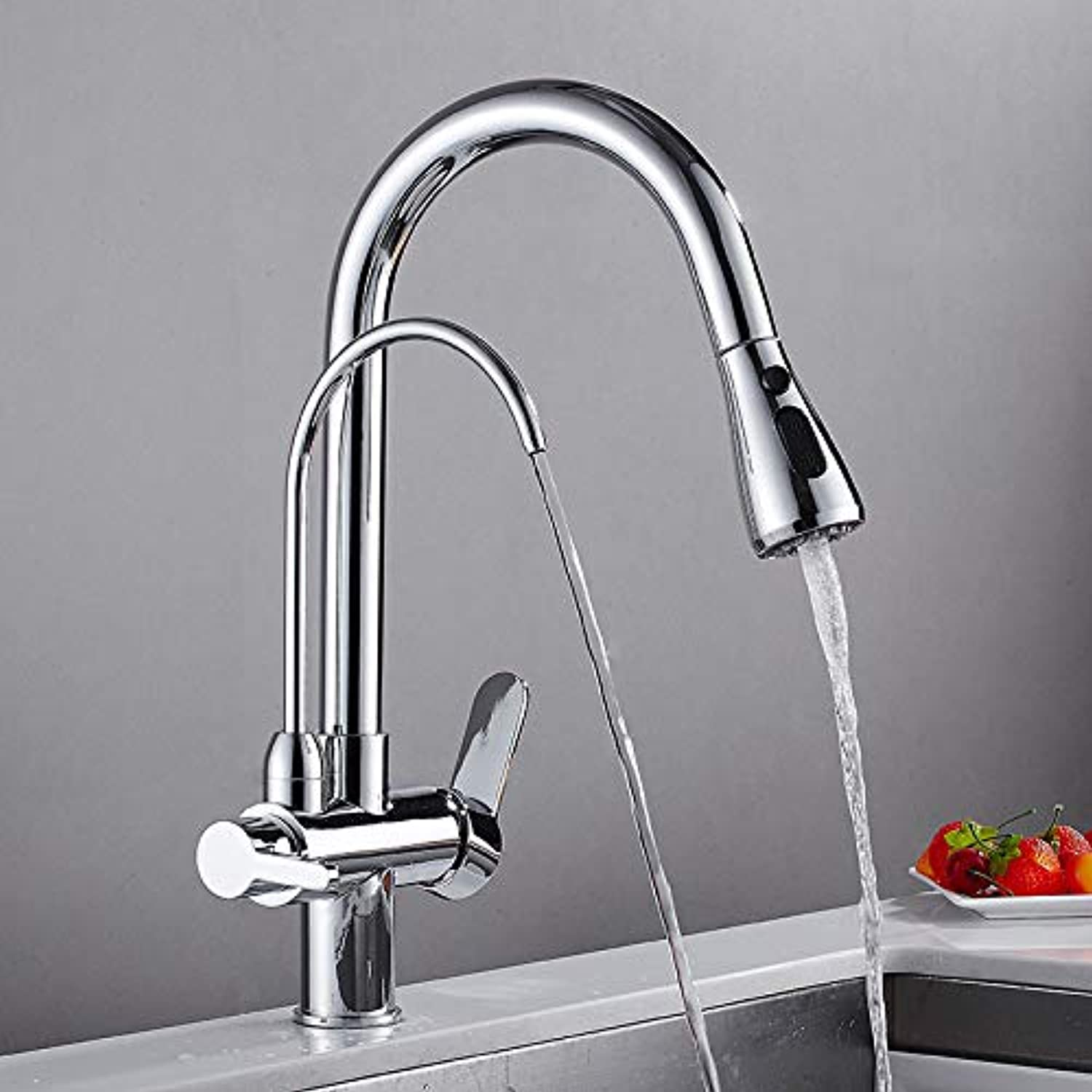 redOOY Taps Kitchen Multi-Function Kitchen Water Purifier Faucet Pull The Sink Faucet Can Switch Double Water Hot And Cold Water
