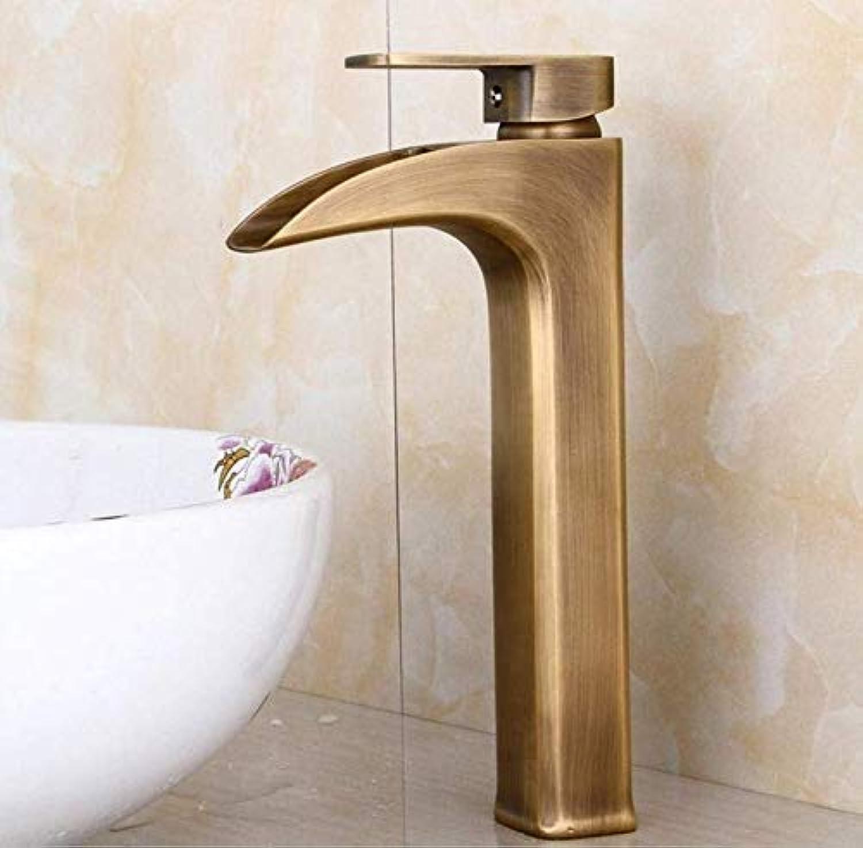 Kitchen fauct Full Copper Basin Faucet European Retro wash Basin Basin Antique Faucet (color   -, Size   -)