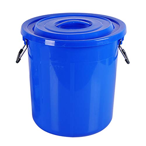 MNSSRN Cubos de Cubo de plástico de Grado alimenticio, recipientes de Almacenamiento de Agua Industrial para el hogar, barriles de fermentación, barriles de Vino,Azul,100L