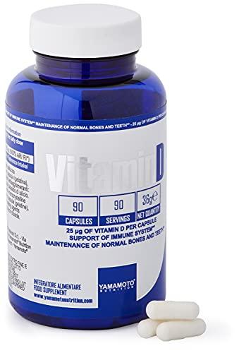 Yamamoto Nutrition Integratore Alimentare di Vitamina D - 90 Capsule
