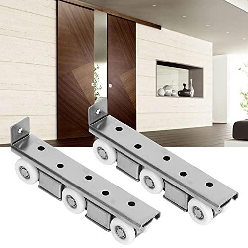 Rueda para puerta corrediza Polea para puerta corrediza más estable, para puerta de madera maciza
