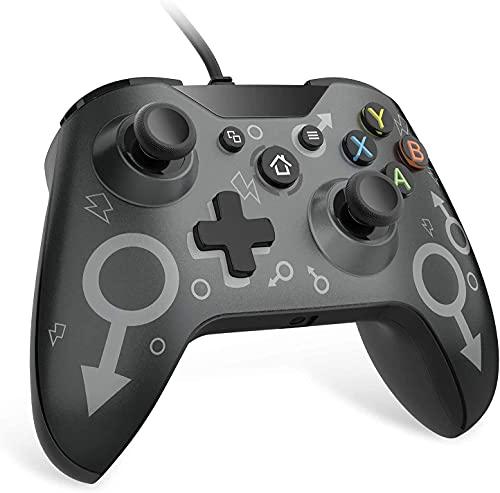 Xbox One Controller, Wired Xbox One Controller für Xbox One, Xbox One S, Xbox One X und PC (Windows 7/8/10) mit 2,2-M-Kabel- und Headset-Buchse