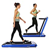 OppsDecor Under Desk Treadmill 2in1 Walking Running Machine Electric Treadmill Folding Pad...