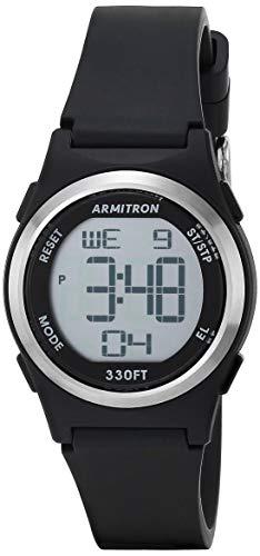 Armitron Sport Women's Quartz Sport Watch with Resin Strap, Black, 14 (Model: 45/7102BLK)