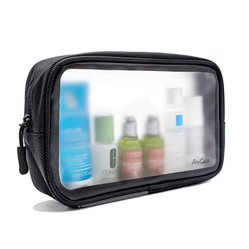 ProCase Travel Liquid Bag, Matte Clear Toiletry bag for Flight, Plastic Bag for Airline Security, TSA Approved Wash Bag Cosmetic Pouch