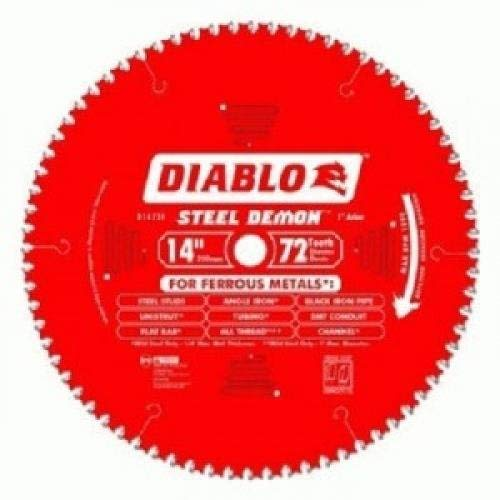 Diablo D1472CF 14-inch Steel Demon 72T Cermet II Carbide Ferrous Metal Saw Blade Carbide Cutting Saw Blade