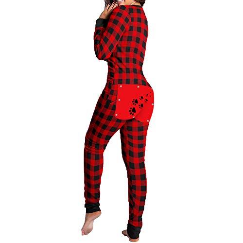 Honestyi Damen Button-down Front Funktionale geknöpfte Klappe Erwachsene Jumpsuit Satin Bademantel Nachthemd, Sexy Damen Kimono Robe Riemchen Nachtwäsche Nachthemd Nachthemd