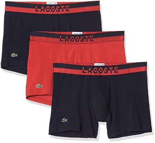 Lacoste Herren Ramc302 Unterhose, Mehrfarbig (NGHT/Sctr/NGHT 600), Small (3er Pack)