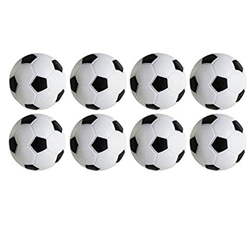 Yeelan Table Soccer Football Game, Confezione da 8pz (Bianco e Nero, 32 Millimetri / 1.26
