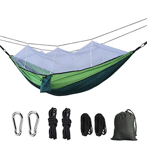 Youxiu Hamaca 2.6x1.4m Mosquitera al Aire Libre Nylon Anti-Mosquito Hammock Parachute Cloth Portable Camping Supplies Bed,04