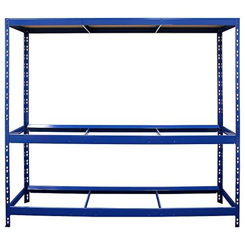 Certeo Reifenregal HxBxT 180 x 190 x 50 cm   Platz für bis zu 18 Reifen   Tiefe 50 cm   Garagenregal