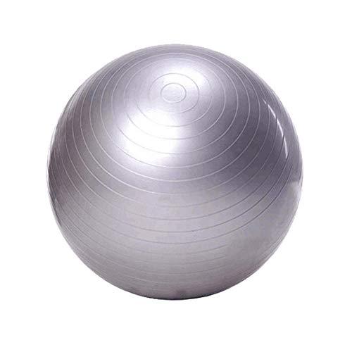 Gymnastikball Pilates-Ball 65CM, Gymnastikball Sitzball für Sport Physiotherapie Schwangerschaft Yoga Pilates - Fitness Ball für Rückenübungen und Dehnübungen,Silber-Grau