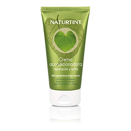 Naturtint Eco Crema Acondicionadora Reparación y Brillo - Aporta Fuerza y Brillo, Cabello Sedoso, Suave y Fácil de Peinar, 99% Ingredientes Naturales, Sin Siliconas ni Parabenos - 150 ml
