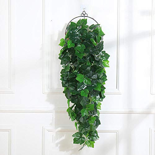 Artificial Flower Artificial Rape Leaf Hanging Plants 1Pcs Greenery Leaf Silk Fake Plant Decor Jungle Party Artificials Para Decoration 38 Inches