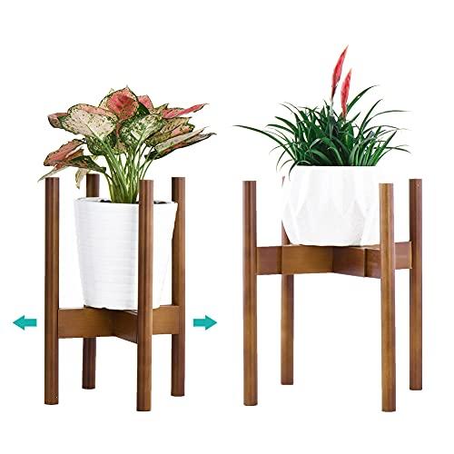 YEALEO Soporte Ajustable para Plantas, Moderno Soporte para Macetas, para Interiores y Exteriores,...