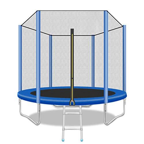 Home store Trampolín, 48 Pulgadas Cama elástica de jardín, Capacidad de Peso máxima de 200 kg, con Malla de Seguridad y Escalera, Deportes al Aire Libre, niños Adultos