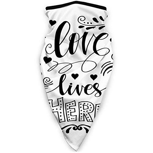 Yuanmeiju Hand Written Ornamental Motivational Message Lifestyle Romantic DesignWindproof bufanda deportiva