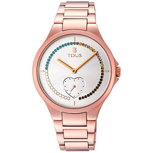 Tous Reloj Motion Straight corazón de Acero IP Rosado con Cristales -900350345