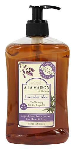 Hand Body Savon, Lavande Aloe, 16,9 fl oz (500 ml) - A La Maison de Provence