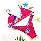 TTKMBN Bikini Nueva Flor Verano Mujeres Traje de baño Push Up Acolchado Neon Vendaje Trajes de baño Mujeres Bikinis Set Traje de baño al por Mayor