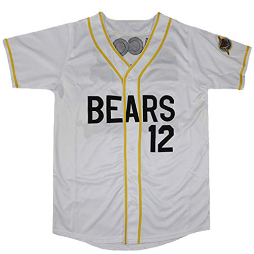 Bad News Bears Jersey #3 Kelly Leak #12 Tanner Boyle Stitched Movie 1976 Chico's Bail Bonds Baseball Jersey S-3XL (12 White, Larger)