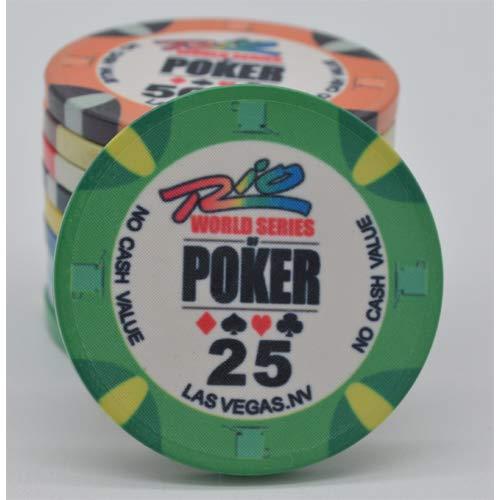 PokerShop Fiches Ceramica WSOP Rio Replica Valore 25