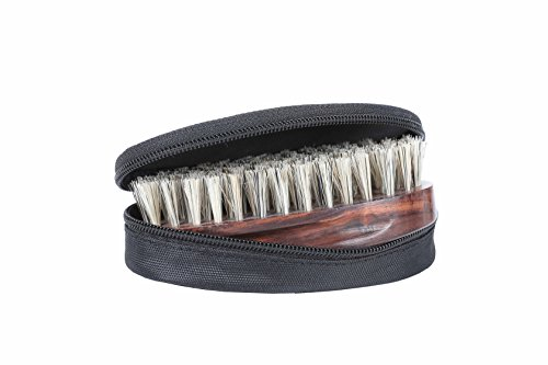 BeardHood 100 Boar Bristle Beard Brush with Handmade Rosewo