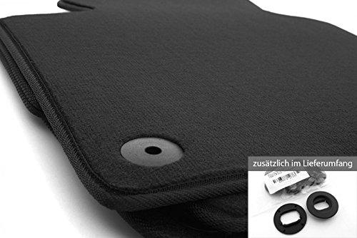 kh Teile Fußmatten (Velours) passend für Golf 5 6 1K 5K Automatten, Schwarz, inkl. Befestigung