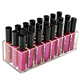 Acrylic Lip Gloss Holder Organizer, Lipstick Holder, 24 Slots Makeup Lip Gloss Lipstick Brushes Storage Display Case