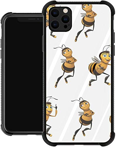 Greenf The Movies Dank Fire Bee Memes Movie Lit Meme Glass Phone Case Cover for iPhone 12 Pro MAX 12 Mini 11 11 Pro MAX XR X/XS 7/8/SE 2020 7plus/8 Plus 6/6s 6plus/6s Plus