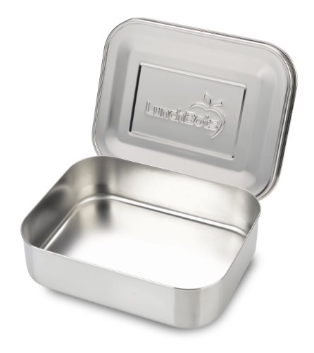 LunchBots Medium Uno Stainless Steel Sandwich Container - Open Design for Wraps - Salads or a Small Meal - Eco-Friendly - Dishwasher Safe and BPA-Free - Stainless Steel