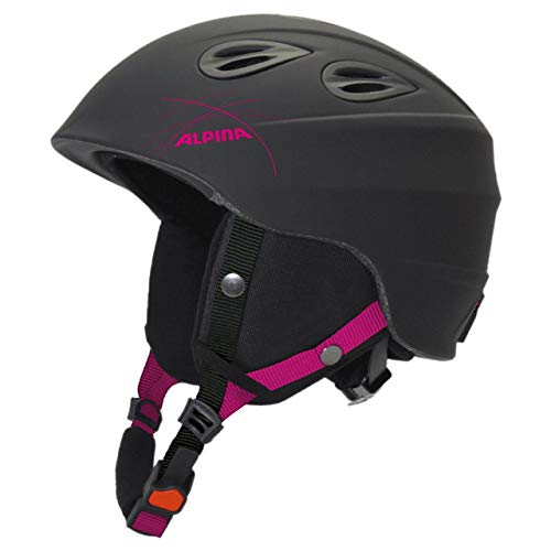 Alpina Sports Unisex– Erwachsene JUNTA 2.0 Skihelm, Black-pink, 54-57