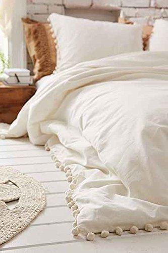 10 best flber outlet ivory duvet cover king boho cotton tassel bedspread for 2021